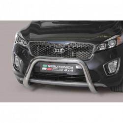 Bullbar anteriore OMOLOGATO KIA New Sorento 2015- acciaio INOX mod Medium