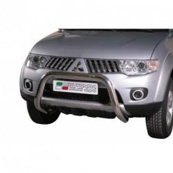 Bullbar anteriore OMOLOGATO MITSUBISHI L200 D.C./Club Cab 2010-2015 acciaio INOX mod Medium