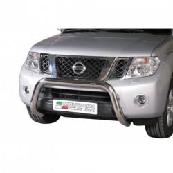 Bullbar anteriore OMOLOGATO NISSAN Navara D.C. 2010-2014 acciaio INOX mod Medium
