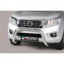 Bullbar anteriore OMOLOGATO NISSAN NP 300 Navara 2016- acciaio INOX mod Medium