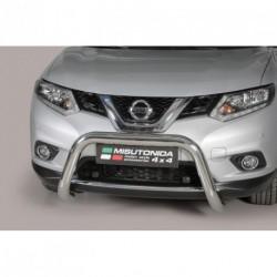 Bullbar anteriore OMOLOGATO NISSAN X-Trail 2014- acciaio INOX mod Medium