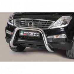 Bullbar anteriore OMOLOGATO SSANGYONG Rexton W 2013- acciaio INOX mod Medium