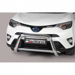 Bullbar anteriore OMOLOGATO TOYOTA Rav 4/Hybrid 2016- acciaio INOX mod Medium