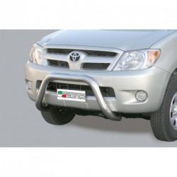 Bullbar anteriore OMOLOGATO TOYOTA Hi Lux 2005-2011 acciaio INOX mod Medium