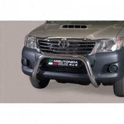 Bullbar anteriore OMOLOGATO TOYOTA Hi Lux 2011-2016 acciaio INOX mod Medium