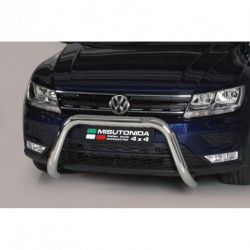 Bullbar anteriore OMOLOGATO VOLKSWAGEN Tiguan 2016- acciaio INOX mod Medium