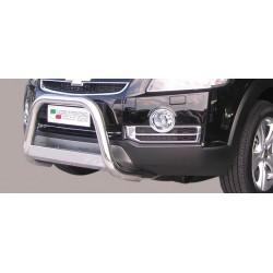 Bullbar anteriore OMOLOGATO CHEVROLET Captiva 2006-2011 acciaio INOX mod Medium