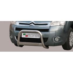 Bullbar anteriore OMOLOGATO CITROEN Berlingo 2008-2015 acciaio INOX mod Medium