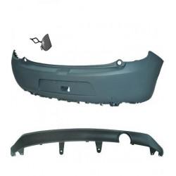 Paraurti posteriore CITROEN C3 2009-04/2013 e restyling 2013-, verniciabile, completo tappo gancio e spoiler sottoparaurti, senza sensori