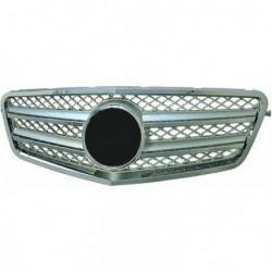Calandra griglia TUNING MERCEDES Classe E W212 2009-2013 cromata argento, look sportivo stile CL, incluso stemma