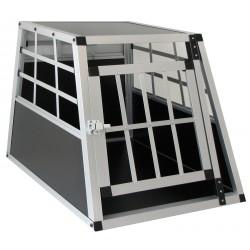 Gabbia cuccia trasporto per cane in auto rigida misura XL cm 69x50x54 leggera alluminio