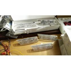 Coppia frecce laterali LED con logo M Power cromate per  BMW Serie 1 E82 E88, Serie 3 E46 E90 E91 E92 E93, Serie 5 E60 E61, Seri