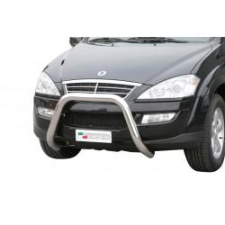 Bullbar anteriore OMOLOGATO SSANGYONG Kyron 2007- acciaio INOX mod Medium