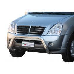 Bullbar anteriore OMOLOGATO SSANGYONG Rexton II 2006-2012 acciaio INOX mod Medium