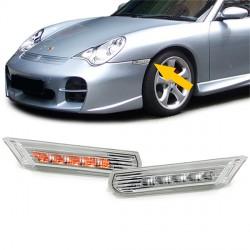 Coppia set frecce laterali TUNING cromate LED per PORSCHE BOXSTER 986 1996-2004 e 911 serie 996 anni 1997-2004