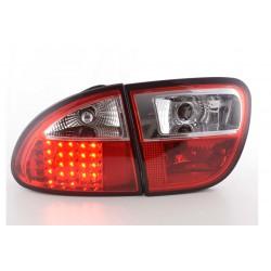 Set fari fanali posteriori TUNING per SEAT LEON 1999-2005 LED rosso cromato