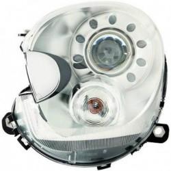 Faro fanale anteriore XENON HID destro MINI R60 2010-2014 D1S cromato freccia chiara con motorino