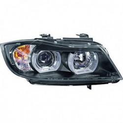 Coppia set fari fanali anteriori Angel Eyes TUNING per BMW Serie3 E90 E91 berlina Touring 2005-2008 XENON neri diurna