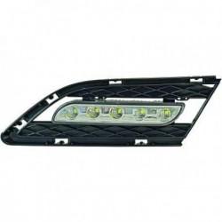Coppia set fari fanali anteriori TUNING luce diurna BMW Serie 3 E90 E91 berlina Touring restyling LCI 2008-2012 LED omologati R87