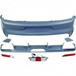 Paraurti posteriore TUNING Sport FORD MUSTANG 2014- verniciabile con diffusore doppio destro e sinistro