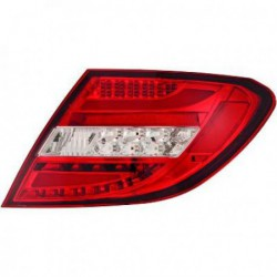 Coppia set fari fanali posteriori TUNING LED AMG look MERCEDES ClasseC W204 berlina Coupè restyling 2011 2012 2013 2014 TUBELIGHT rossi cromati