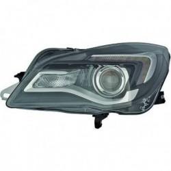 HELLA Faro fanale anteriore sinistro OPEL INSIGNIA 2013-2017 alogeno HIR2 con motorino luce diurna LED