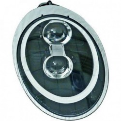 Coppia set fari fanali anteriori BIXENON TUNING PORSCHE 911 serie 997 Coupè Cabrio 2004-2009 xenon D2S+H9 nero ANGEL EYES