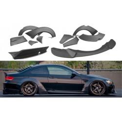 Bodykit kit estetico allargamento parafanghi TUNING completo BMW Serie3 E92 coupè 2006-2013 lama spoiler alettone