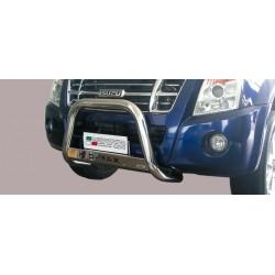 Bullbar anteriore OMOLOGATO ISUZU D-Max D.C. doppia cabina 2007 2008 2009 2010 2011 2012 acciaio INOX mod Medium con marchio