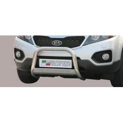 Bullbar anteriore OMOLOGATO KIA Sorento 2010 2011 2012 acciaio INOX mod Medium