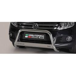 Bullbar anteriore OMOLOGATO VOLKSWAGEN Caddy 2003 2004 2005 2006 2007 2008 2009 2010 acciaio INOX mod Medium con marchio