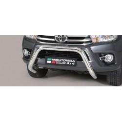 Bullbar anteriore OMOLOGATO TOYOTA Hi Lux 2016- acciaio INOX mod Medium