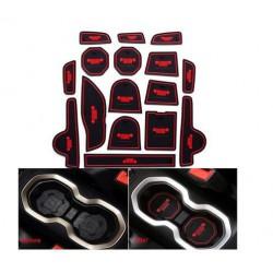 JEEP RENEGADE set 16 tappeti tappetini gomma antiscivolo alto grip interni vasche porta portiera portabicchieri portaoggetti fin