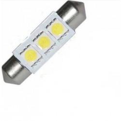 Luce siluro 3 LED BIANCO SMD 5050 luce bianca targa interni 36 mm SELEZIONATA