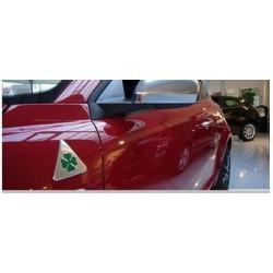 Coppia adesivi metal alu stemma marchio QUADRIFOGLIO VERDE ALFA ROMEO Mito Giulietta Stelvio Giulia 147 156 159 166 GT Brera Spi