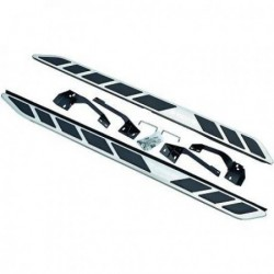 Coppia set pedane predellini laterali TUNING per LANDROVER EVOQUE PRESTIGE 2010- in allumino ed ABS con accessori di montaggio