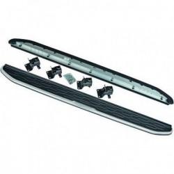 Coppia set pedane predellini laterali TUNING per LANDROVER DISCOVERY SPORT 2015- in alluminio ed ABS con accessori di montaggio