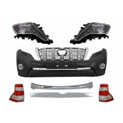 Bodykit kit estetico completo restyling TUNING per TOYOTA LAND CRUISER Prado 2009-2013 in look 2013- paraurti anteriore fari ant