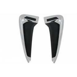 Coppia prese d'aria TUNING look X5M per BMW X5 F15 2013 2014 2015 2016 2017 2018 per parafanghi anteriori cromate nere