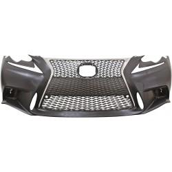 Paraurti anteriore TUNING look F-Sport LEXUS IS 2014- con griglie calandra no lavafari no sensori