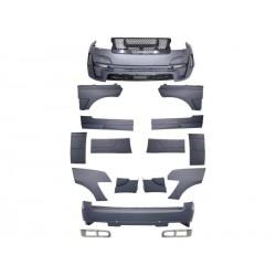 Bodykit kit estetico completo TUNING look HK per RANGE ROVER IV L405 2013- paraurti anteriore posteriore estensioni parafanghi porte griglie nido d'ape calandra luci diurne DRL LED finiture cromate