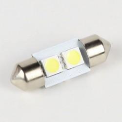 Luce siluro 31mm LED BIANCO SMD 5050 luce bianca targa interni a 2 LED SELEZIONATA