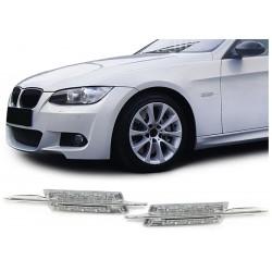 Coppia frecce laterali ripetitori TUNING LED look M per BMW Serie3 E90 E91 2005-2008 Serie5 E39 E60 E61 1995-2007 berlina touring cromate