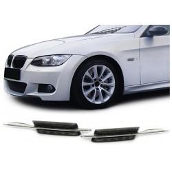 Coppia frecce laterali ripetitori TUNING LED look M per BMW Serie3 E90 E91 2005-2008 Serie5 E39 E60 E61 1995-2007 berlina touring nere