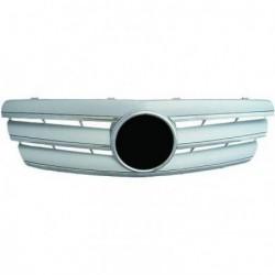 Calandra griglia TUNING MERCEDES Classe C W203 2000-2007 chrome argento, look sportivo stile CL, incluso stemma