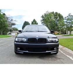Calandra griglia radiatore TUNING BMW Serie3 E46  2001-2005 look M doppi listelli berlina Touring nera lucida