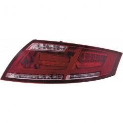 Set fari fanali posteriori TUNING per AUDI TT tutte, 2006-2014 LED rossi scuri