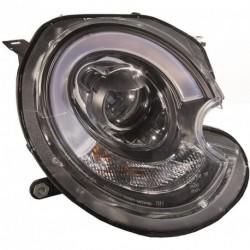 Set fari fanali proiettori anteriori XENON HID TUNING sportivi MINI, 2006-2014 neri D1S con luce diurna DRL LED TUBELIGHT look restyling 2014