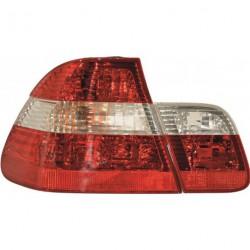 Set fari fanali posteriori TUNING per BMW Serie 3 E46 1998-2001 berlina rosso bianco crystal