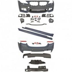 Kit estetico TUNING completo BMW Serie5 F10 2010 2011 2012 2013 berlina look M-TECHNIK completo di paraurti anteriore, posteriore, minigonne, fendinebbia ed accessori